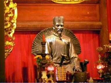 Tượng thờ Chu Văn An tại Văn Miếu-Quốc Tử Giám
